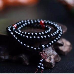 TIBETAN BLACK SANDALWOOD MALA BRACELET